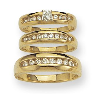 diamond trio ring