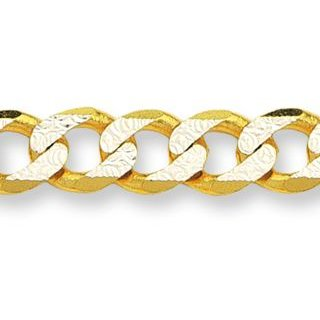 gold pave curb chain